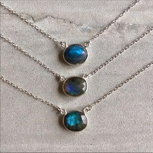 Sterling Silver Nebula Labradorite Necklace